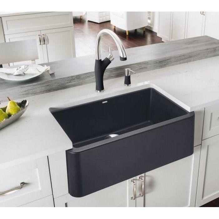 Ikon 30 L X 19 W Farmhouse Apron Kitchen Sink Black Farmhouse Sink Stylish Kitchen Farmhouse Apron Kitchen Sinks
