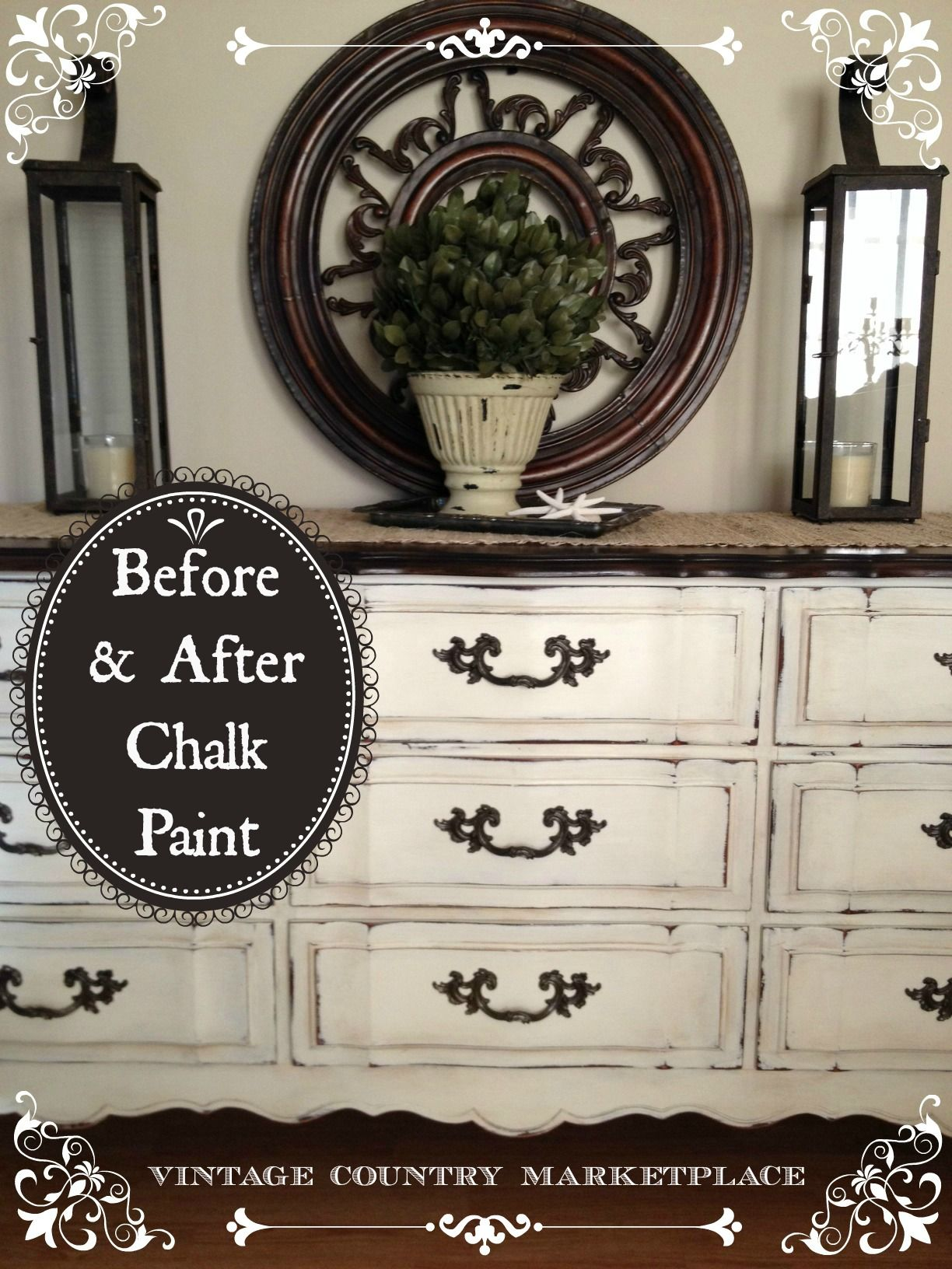 DIY Furniture Beautifully Distressed Chalk Paint Dresser Annie Sloan Before After Weekend Project