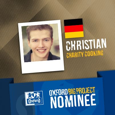 Vote for his project: http://www.oxfordbigproject.com/en/project-nominee/charity-cooking