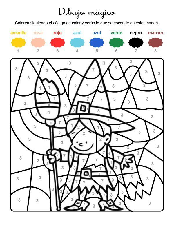 Dibujo M 225 Gico De Una Brujita Dibujo Para Colorear E