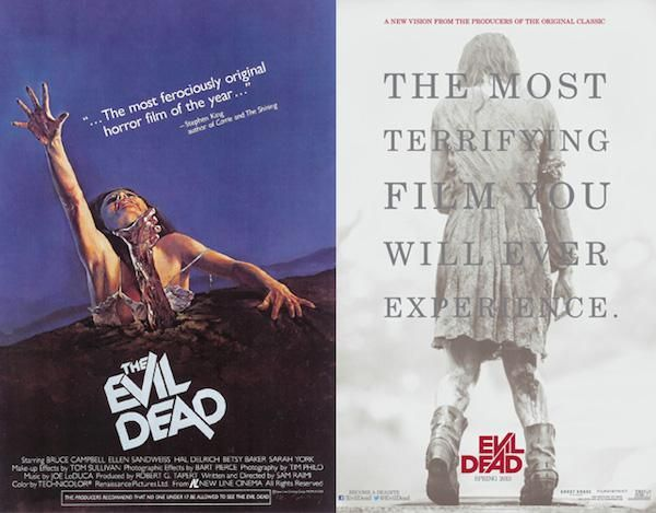 Classic horror movie posters compared to their modern day remakes (35 Photos)