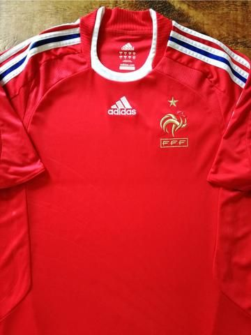 2a9e573ad Official Adidas France away football shirt from the 2008 2009 international  season.