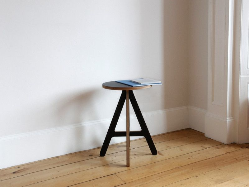 The ByALEX A Stool has a distinctive graphic style that was inspired by Alex's love of typography.