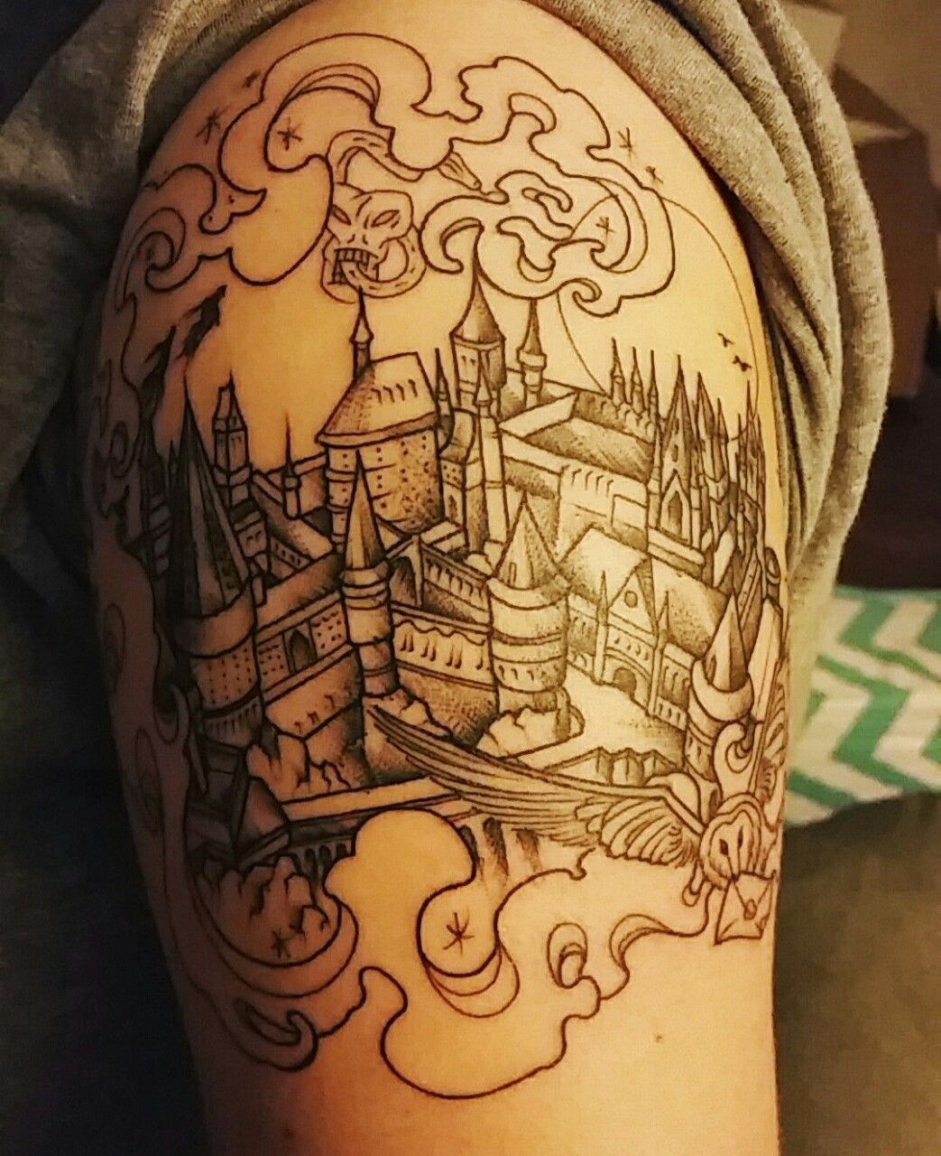 Henna tattoo charleston sc - Beginning Of A Harry Potter Sleeve By Betsy Butler At Roses And Ruins Charleston Sc Holy Crap I Love This