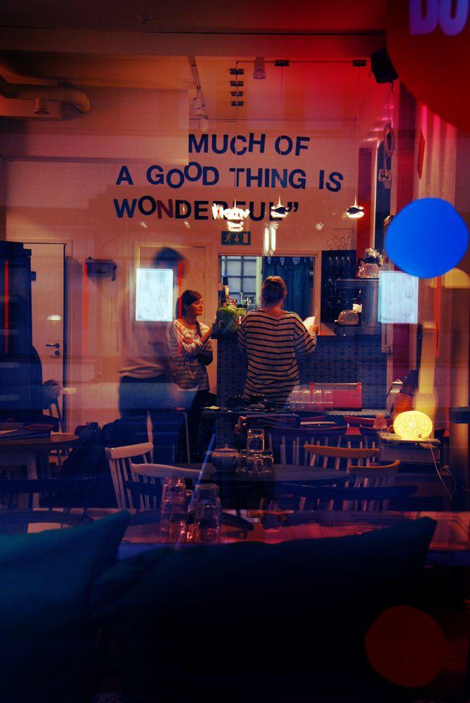 Bossaliina cafe in Turku, Finland. I loved it.