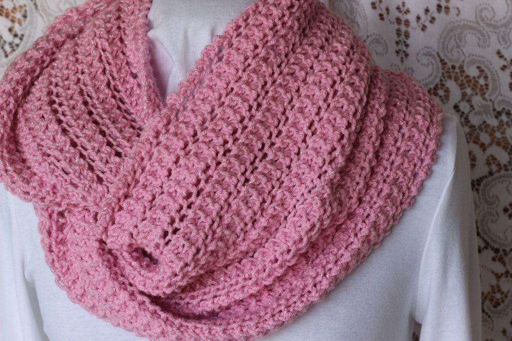 Lace Knit Scarf Pattern Knit Cowl Patterns Free Knitting Pattern
