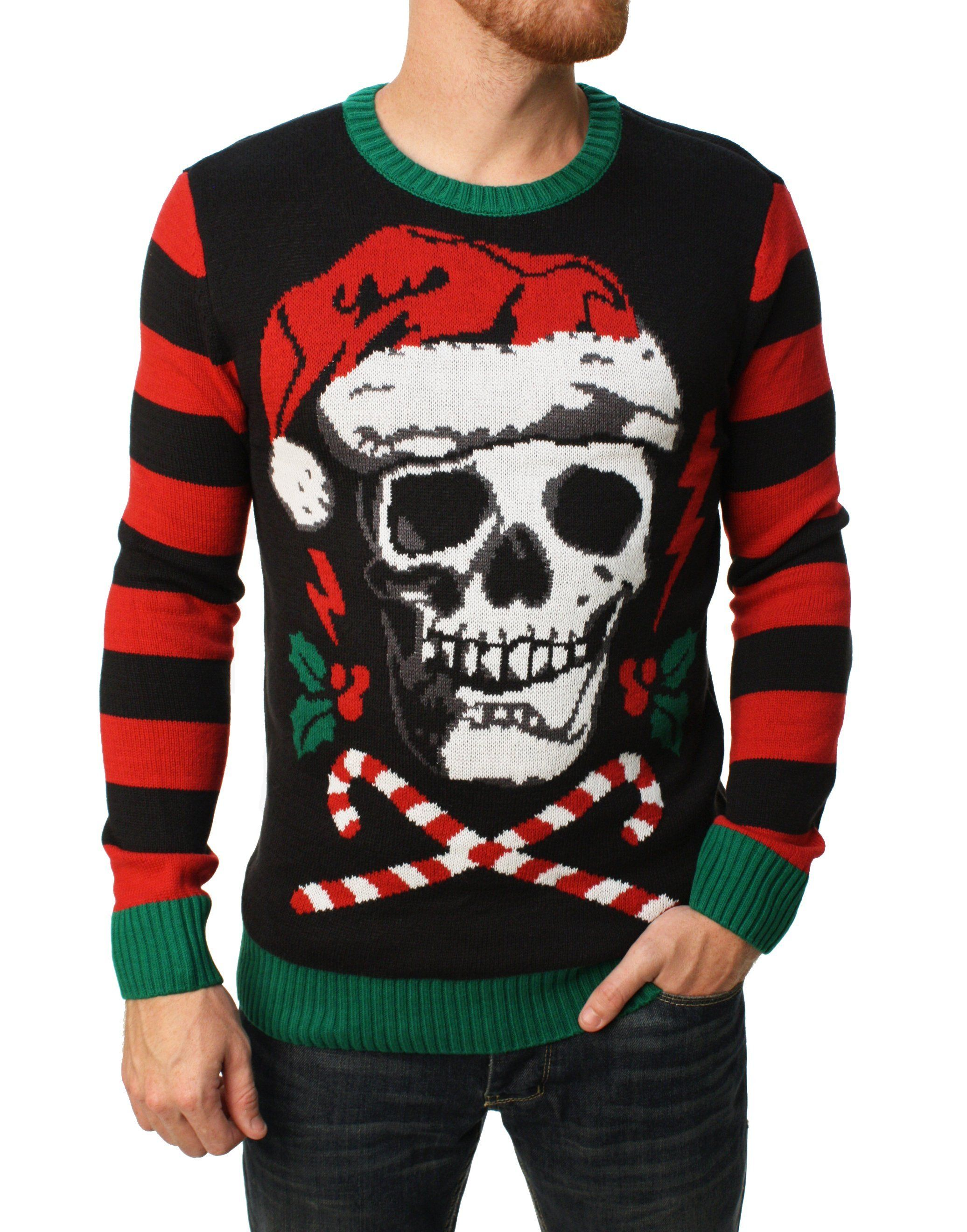 Ugly Christmas Sweater Men\'s Santa Skull Sweater | Products ...
