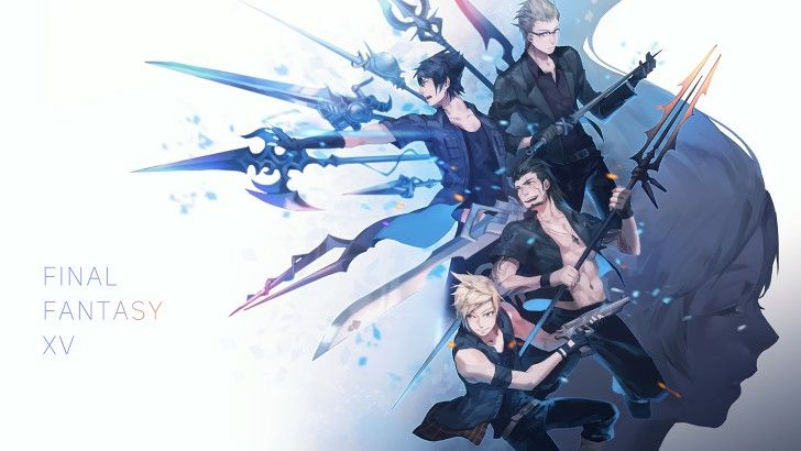 FFXV Weapons Noctis Ignis Gladiolus Prompto And Luna Wallpaper