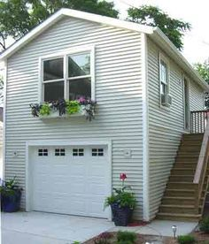 Image result for single car garage with apartment above for One car garage plans with apartment above