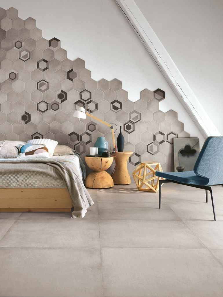 Moroccan mystique feature wall contemporary bedroom brisbane - Porcelain Stoneware Wall Floor Tiles Rewind By Ragno Marazzi Group Bedroom