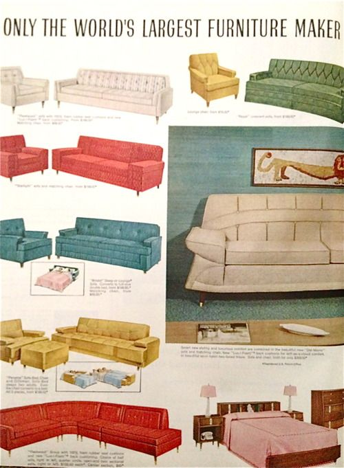 Kroehler Furniture 1959 Dream Chairs And Couches In 2019 Mid