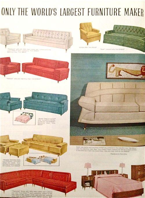 Kroehler Furniture 1959 Kroehler Furniture Mid Century Decor