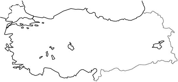 Turkiye Dilsiz Harita Seti2 Sosbil Arabic Calligraphy Ve
