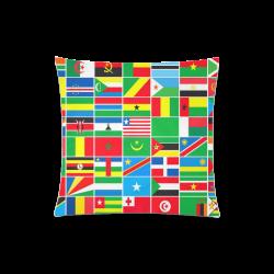 "AFRICA Custom Zippered Pillow Case 20""x20""(Twin Sides)"