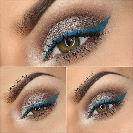 blue line - #blueliner #eyemakeup #eyshadow #eyes #makeup #justynamakeupart