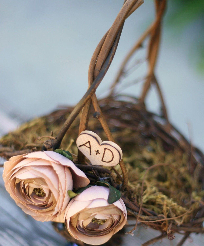 Flower Girl Basket Rustic Wedding Shabby Chic item B10100