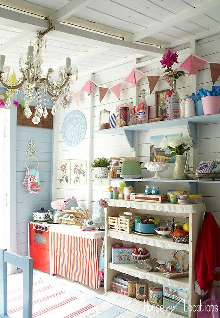 english beach hut interiors - Google Search | kids garden ideas ...