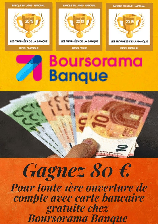 80 Offerts Sur Boursorama Banque Gagner De L Argent Banque Carte Bancaire Gratuite