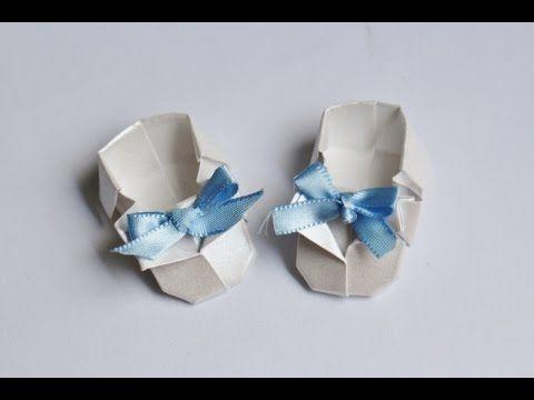 Origami Tutorial: Sapatinho de Bebê | Baby Shoes - YouTube