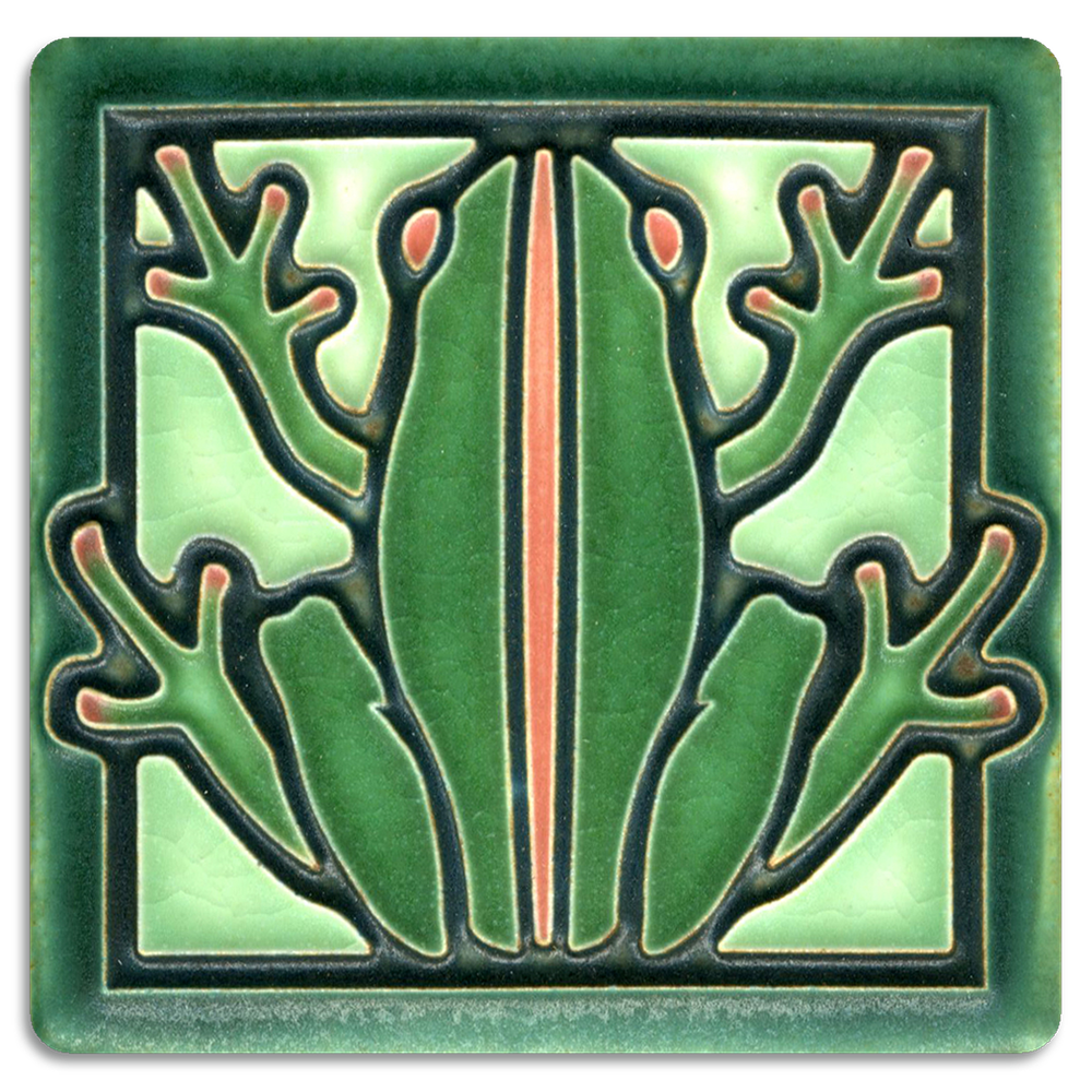 Motawi Tileworks Collection It all started with a Dragonfly tile. We loved it so much that other small insects and animals were added to the line, including this Frog, a Butterfly, a Bee, and a Turtle