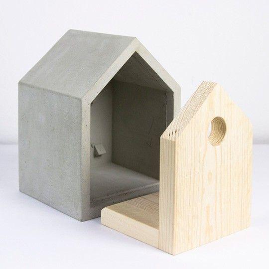 Vogelhaus rohbau concrete design pinterest rohbau - Modernes vogelhaus ...