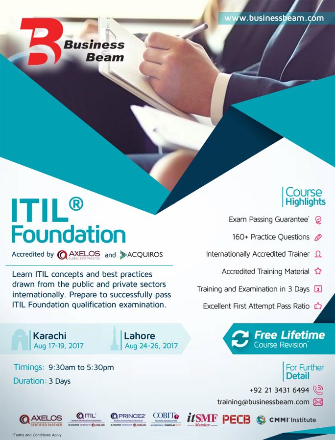 Learn Itil Concepts And Best Practices Drawn From The Public And