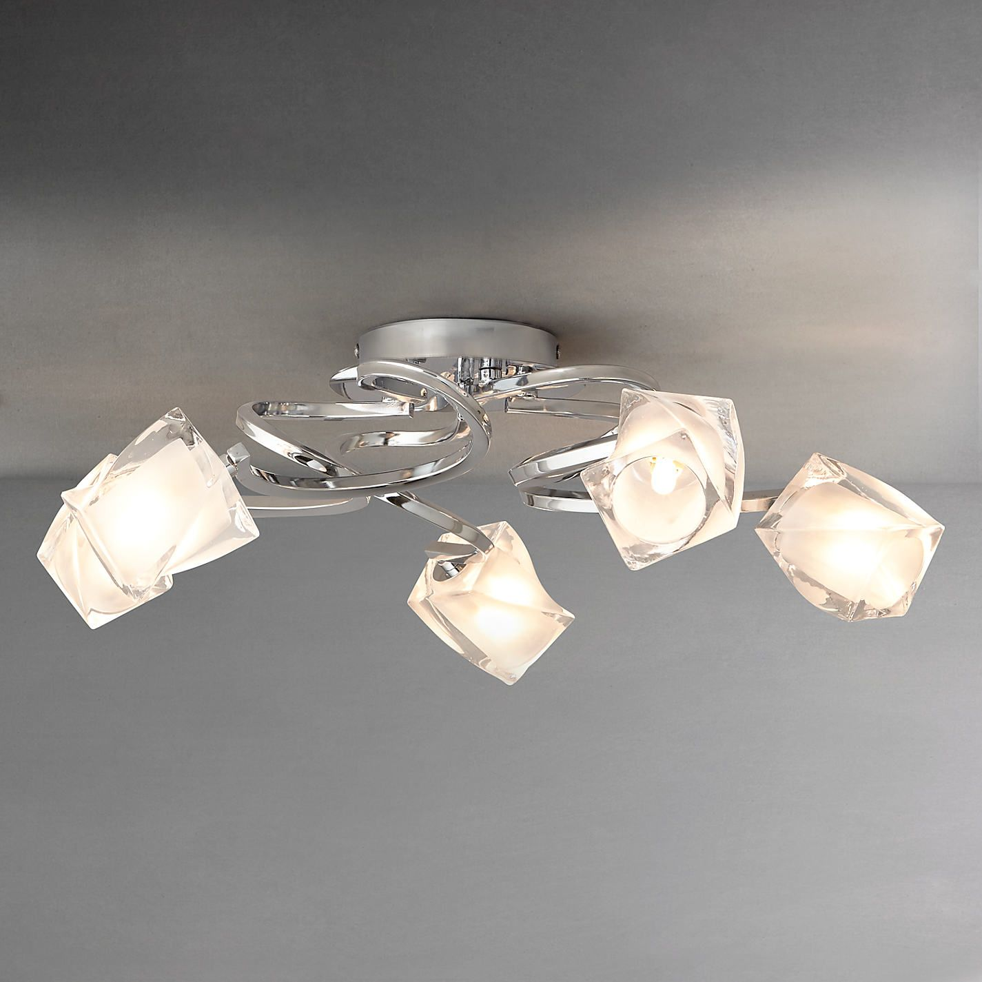 Buy John Lewis Nembus Semi Flush Ceiling Light Chrome 5 Arm From Our Lighting Range At