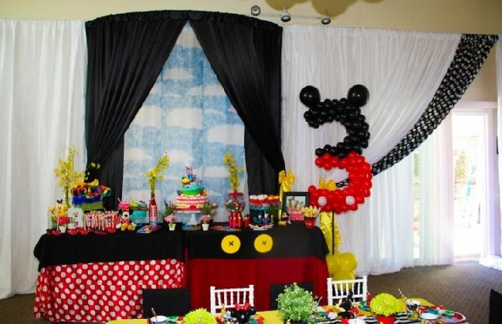 Mickey Minnie Theme Birthday Party Idea Decoration Balloon