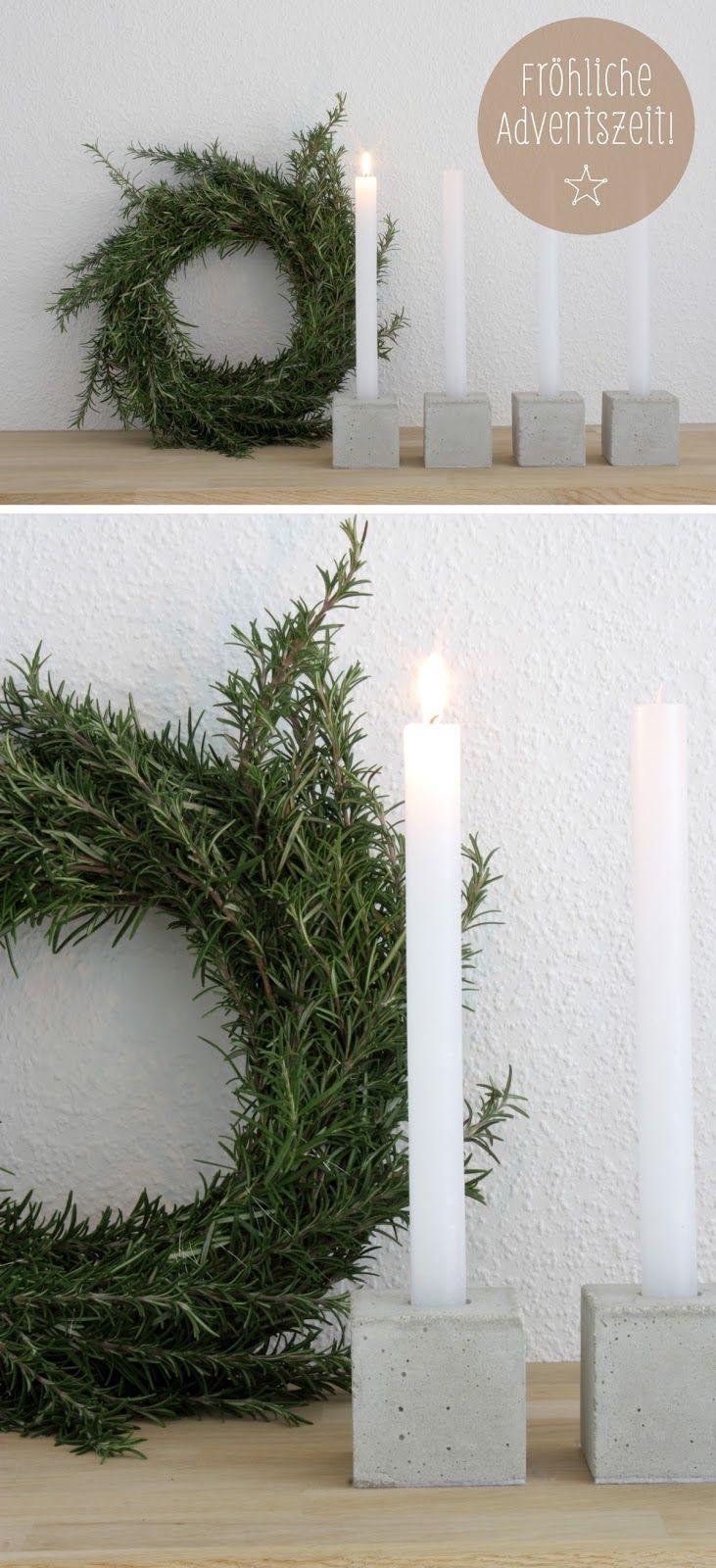 ein einmal anderer Weihnachtskranz - aus Rosmarin - was ...