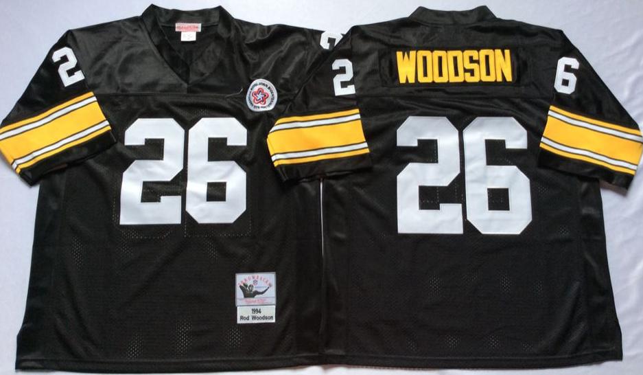 61c69364c Men NFL Pittsburgh Steelers 88 Swann black Mitchell Ness jerseys ...