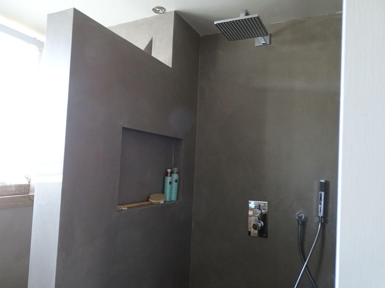 badkamer #douchehoek #betonstuc #jandesbouvrie #rituals | Badkamer ...