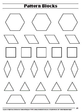 Pattern Block Template Math  PntUvka