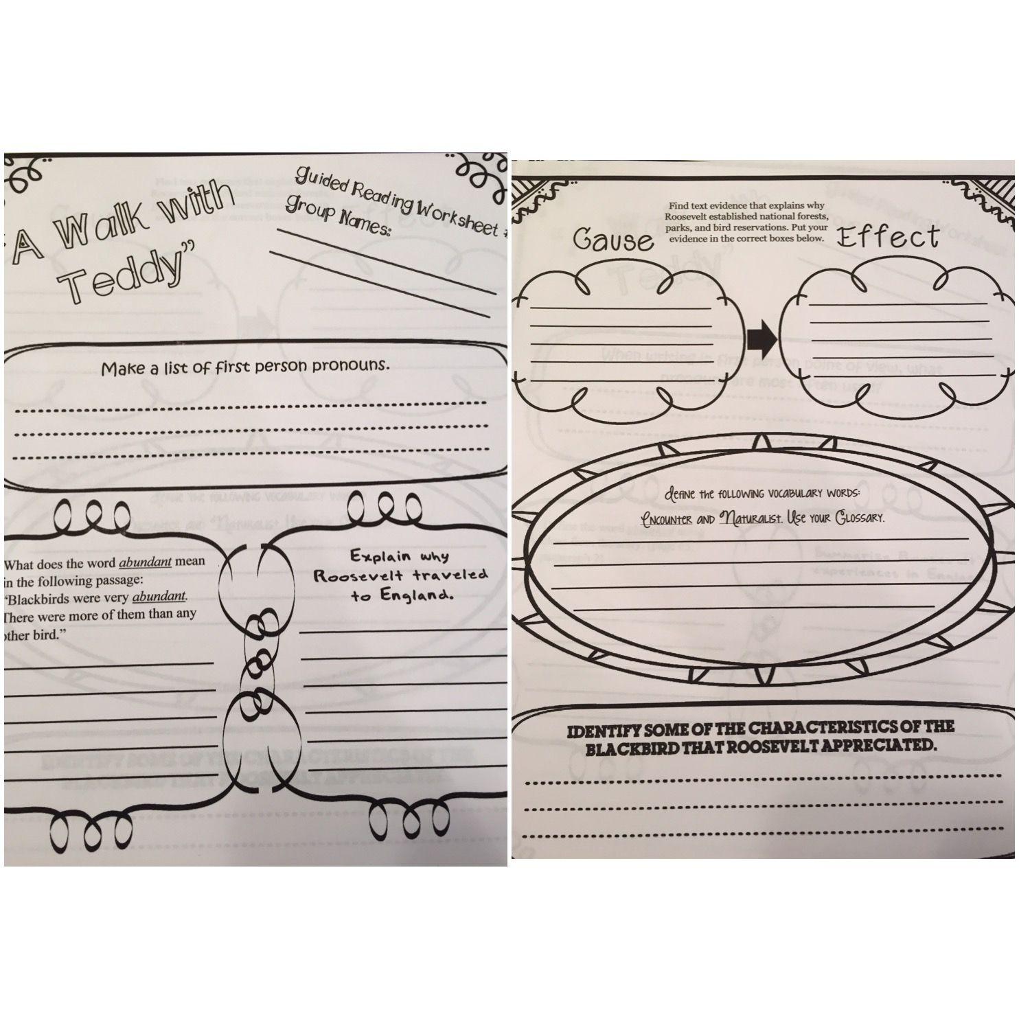 A Walk With Teddy Leveled Worksheet 2 Lists To Make 5th Grade Ela Black Bird