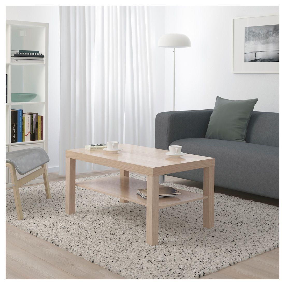 IKEA LACK White Stained OAK Effect Coffee table Lack