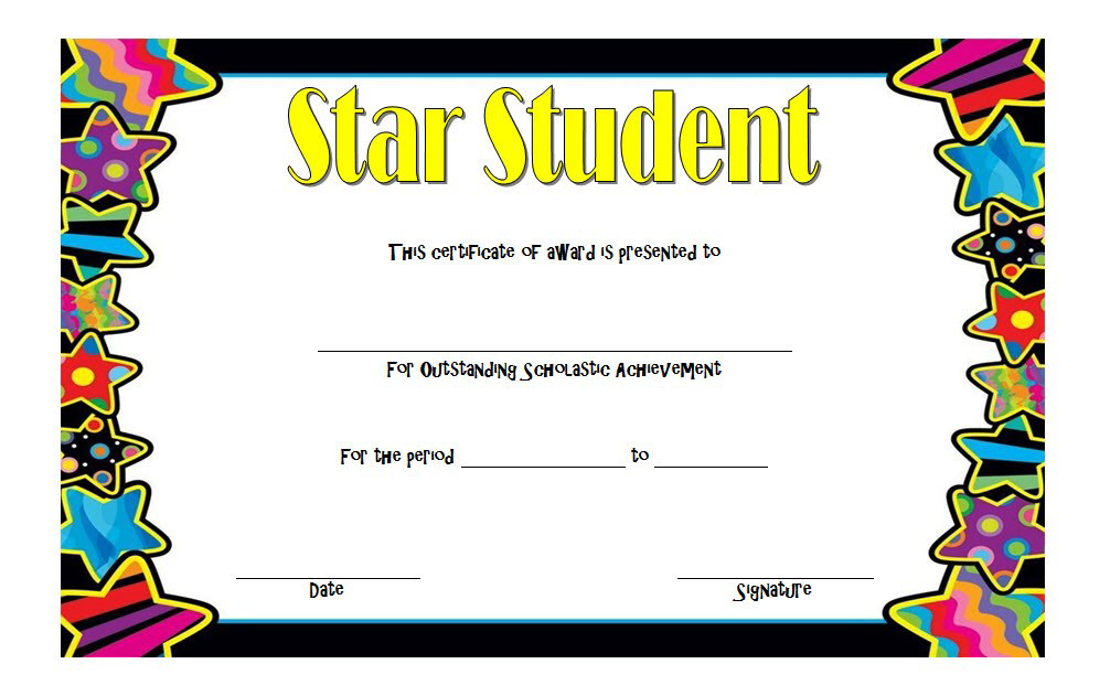 certificate student printable word template templates pdf math onepackage xyz students printables