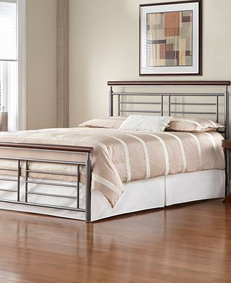 Barclay Silver Cherry Metal King Bed Frame Bedroom Furniture