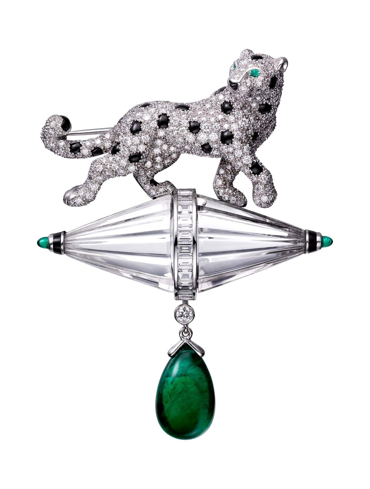 by and csk onyx p details jewelry emerald lot panther cartier a lotfinder diamond brooch