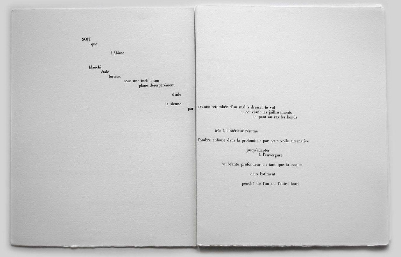Seite Aus Un Coup De Dés Jamais N Abolira Le Hasard 1897 Von Stéphane Mallarmé Diagramação De Livros Poema Visual Livros De Poesia