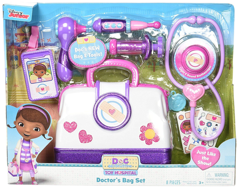 Amazon Com Just Play Doc Mcstuffins Hospital Doctor 39 S Bag Set Toys Amp Games Doc Mcstuffins Toys Doctor Bag Doc Mcstuffins