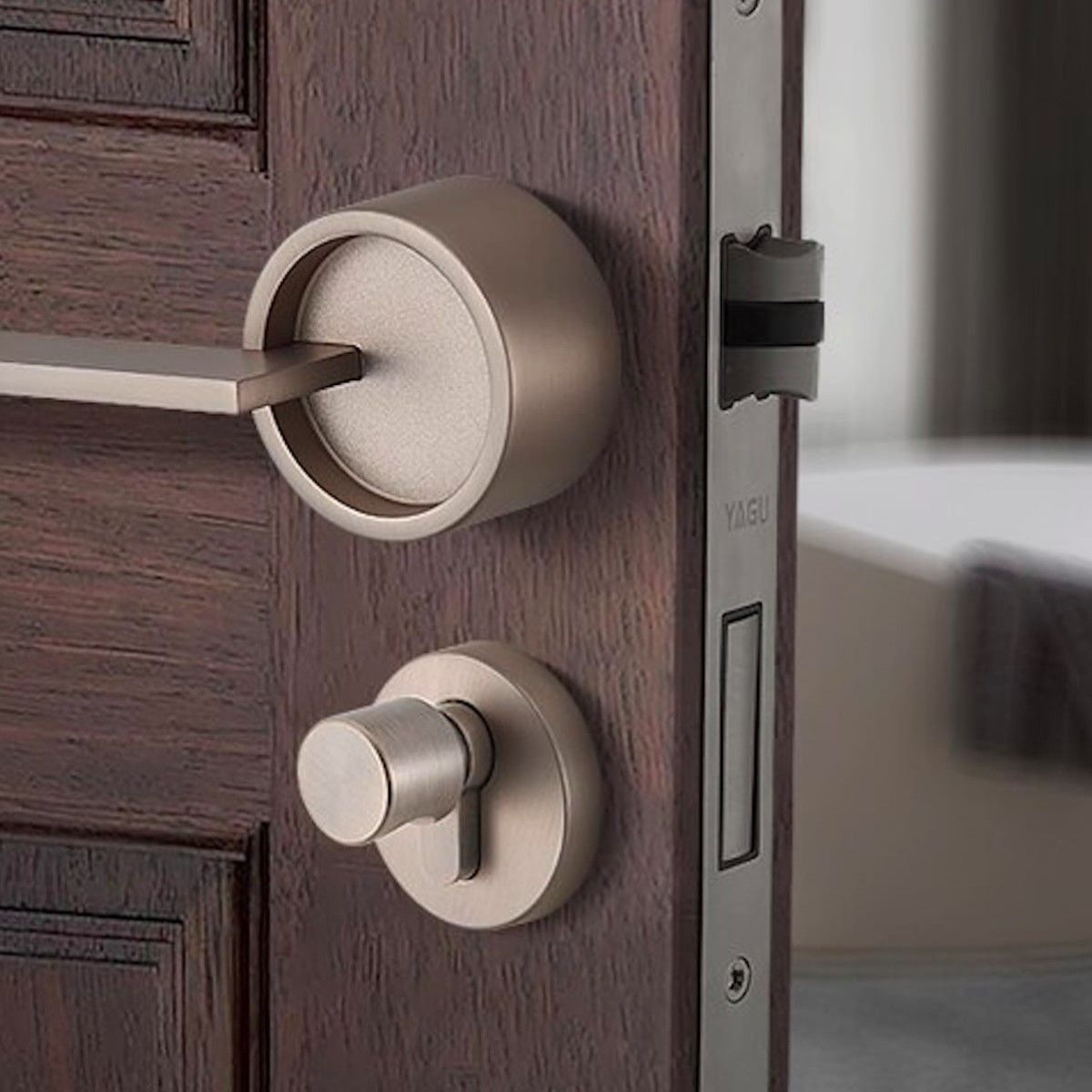 Split Style Security Door Lock Secures Your Main Door In Style In 2020 Security Door Door Locks Door Lock Security