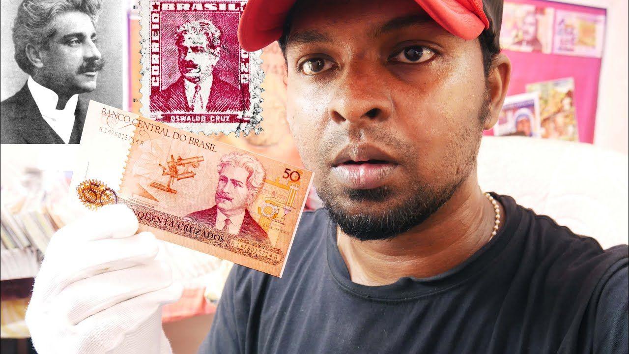 Brazil Doctor In 50 Cruzeiro Banknotes Oswaldo Cruz Doctor In