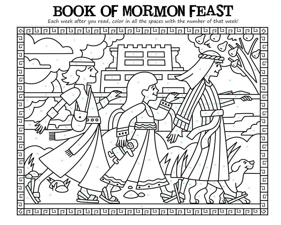 Book Of Mormon Picture Reading Chart Go With The Flo Family Mormon Coloring Pages