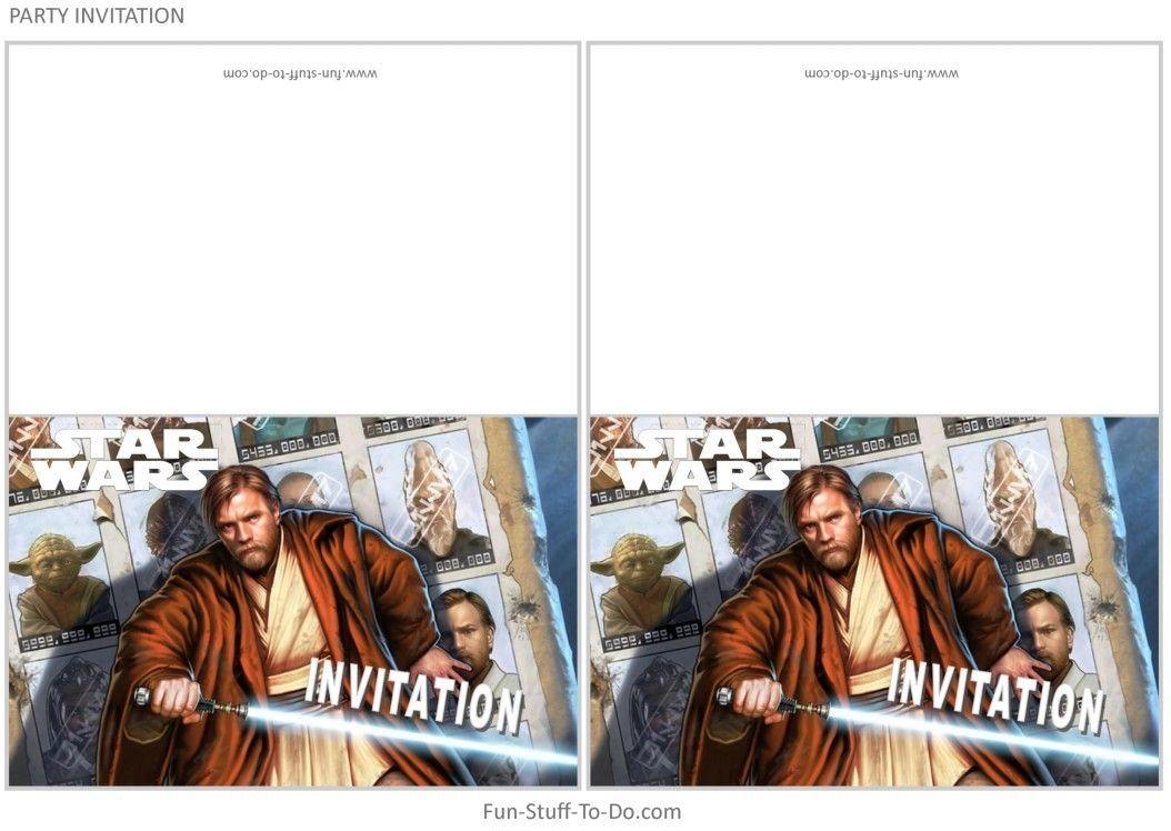 Kit Theme Stars Wars Pour Une Fete Ou Un Anniversaire A Imprimer
