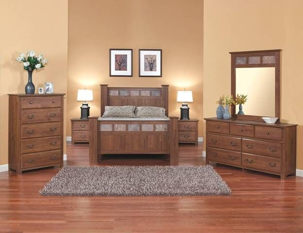 Perdue Stone Manor Queen Bedroom Set...love The Stone Accents!