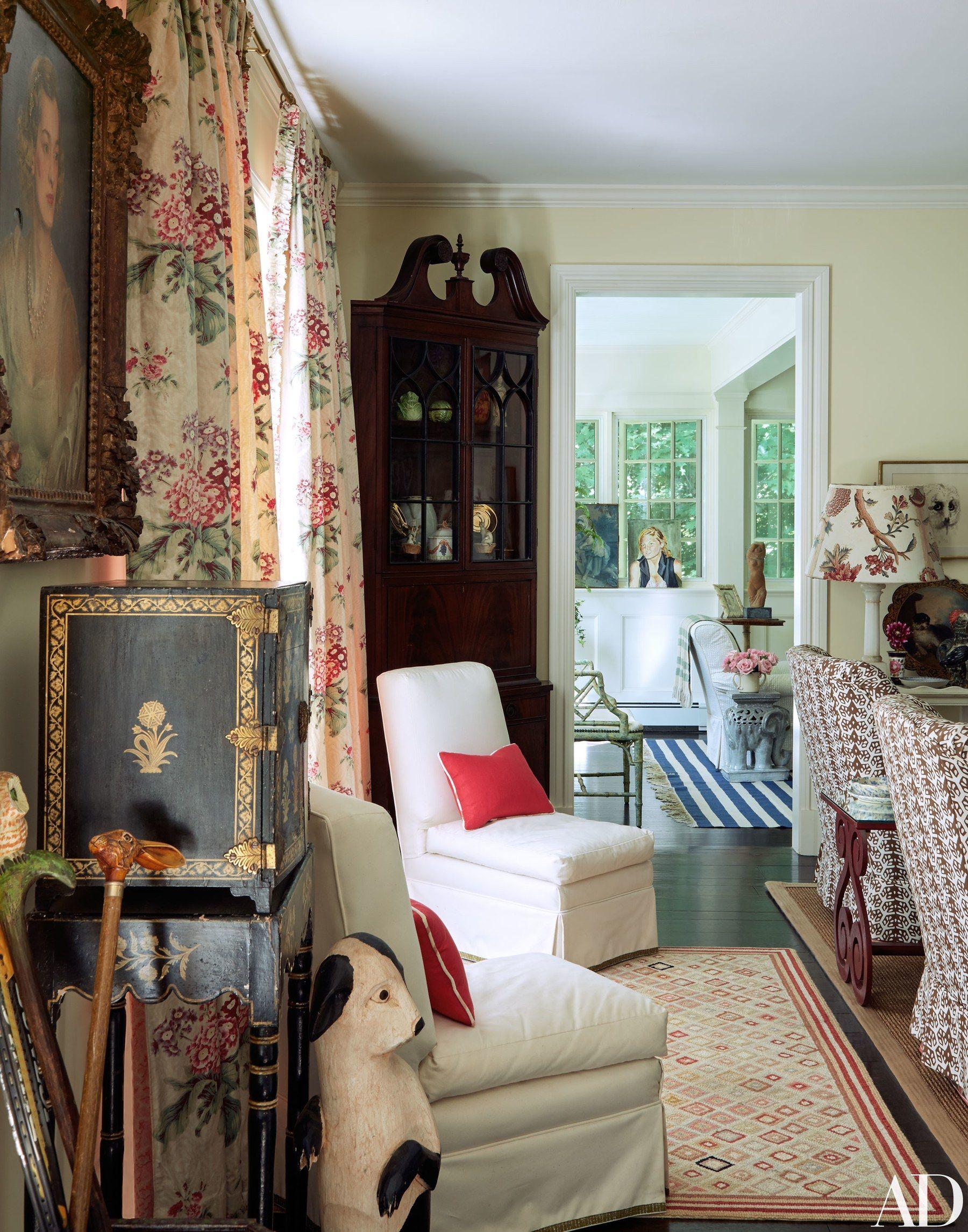 the living room s parish hadley slipper chairs wear a sister parish rh pinterest com