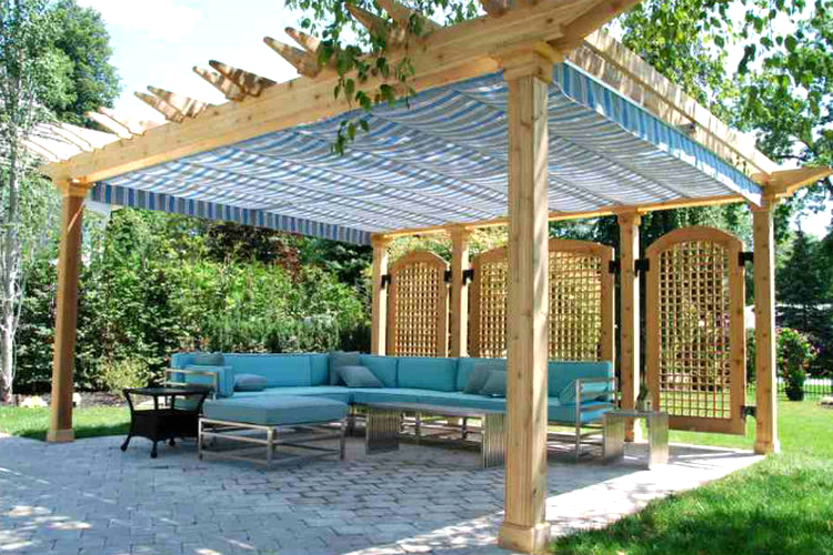 Deck Pergola Canopy Deciding The Right Gazebo Roof