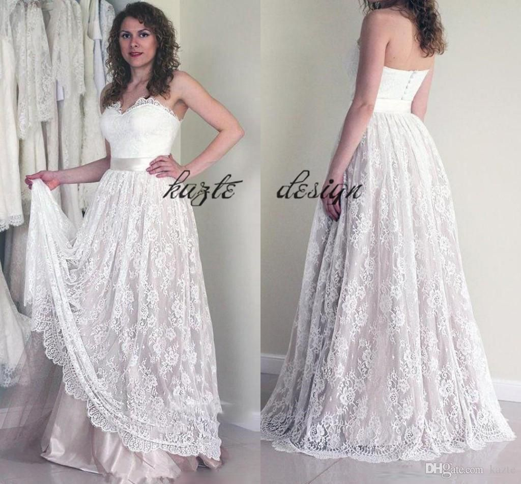 Lash eye lace sweetheart country vintage wedding dresses 2018 plus lash eye lace sweetheart country vintage wedding dresses 2018 plus size full length a line ombrellifo Images