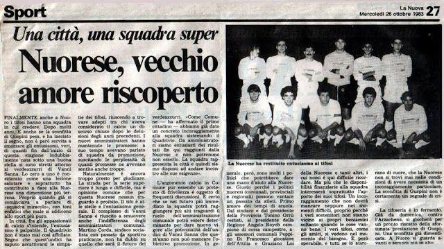 SCRIVOQUANDOVOGLIO: NUORESE,VECCHIO AMORE RISCOPERTO (26/10/1983)