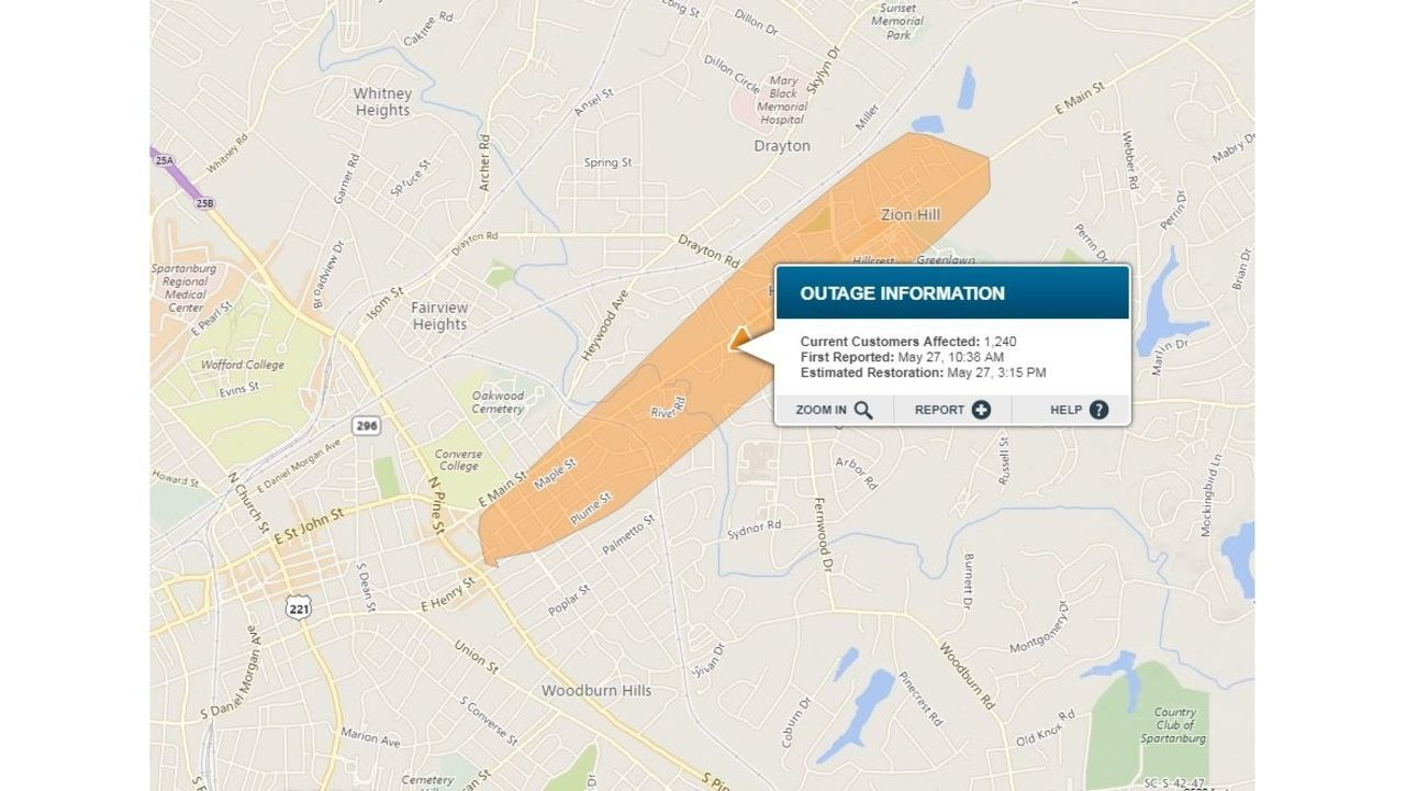 Power Outage After Crash Affects Thousands In Spartanburg Co Power Outage Powercut Spartanburg