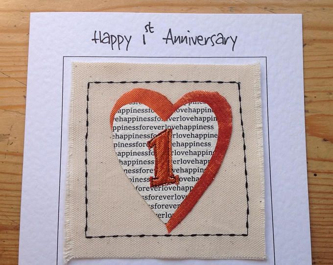 St wedding anniversary card first paper anniversary card st